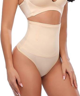Women Slimmer High Waist Trainer Tummy Control Body Shaper Thong Panty Shapewear