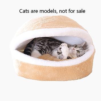 JYH Productos Para Mascotas Camada de gato, invierno cálido, lavable, cerrado, saco de dormir de gato, ...