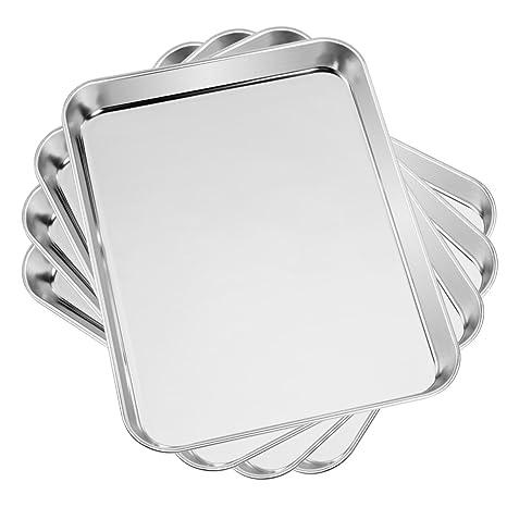 Amazon.com: Yododo - Juego de 4 bandejas de horno de acero ...