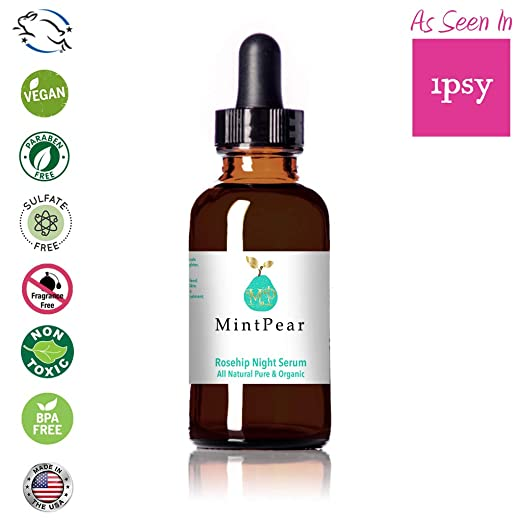 Face Serum | Rosehip Oil | Night Serum | 100% Pure Organic Natural Skin Renewal Brightening Complexion Anti Inflammatory | Anti Aging | Stimulates Collagen & Elastin | Reduces Dark Spots |1oz best night serum