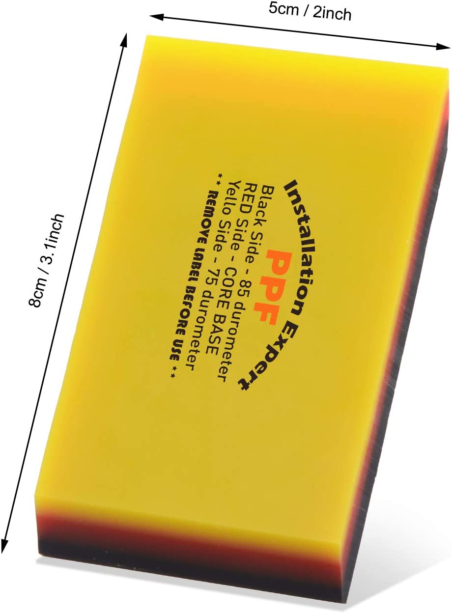 Ehdis Escurridor de Doble Borde de TPU 75 y 85 Dureza del dur/ómetro para Tintado de Ventanas de autom/óviles Pel/ícula de Envoltura de Vinilo Raspador de Limpieza de Vidrio
