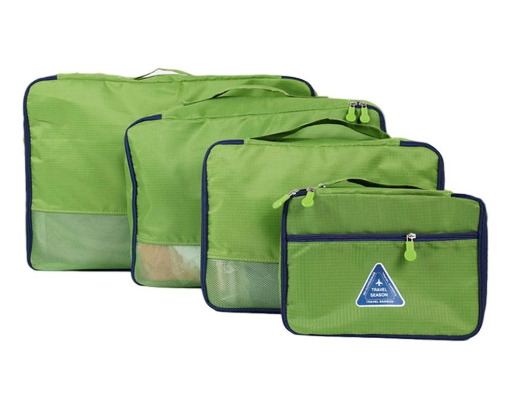 DEJU 4-piece Packing Cubes Set - Travel Accessories Luggage Organizers Bags (Green)