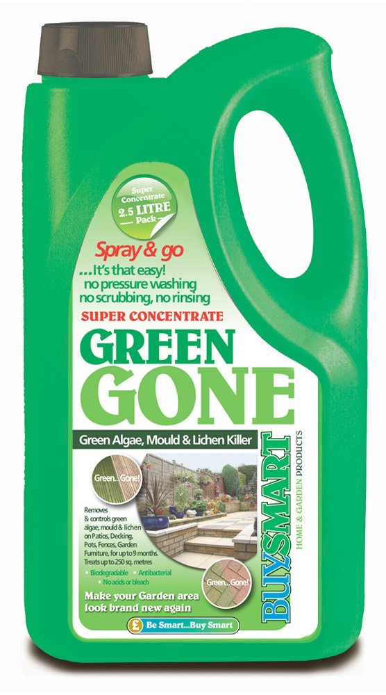 Buysmart Products 2.5L Green Gone Super Concentrate Algae Mould/Moss Killer Buysmart Products Ltd