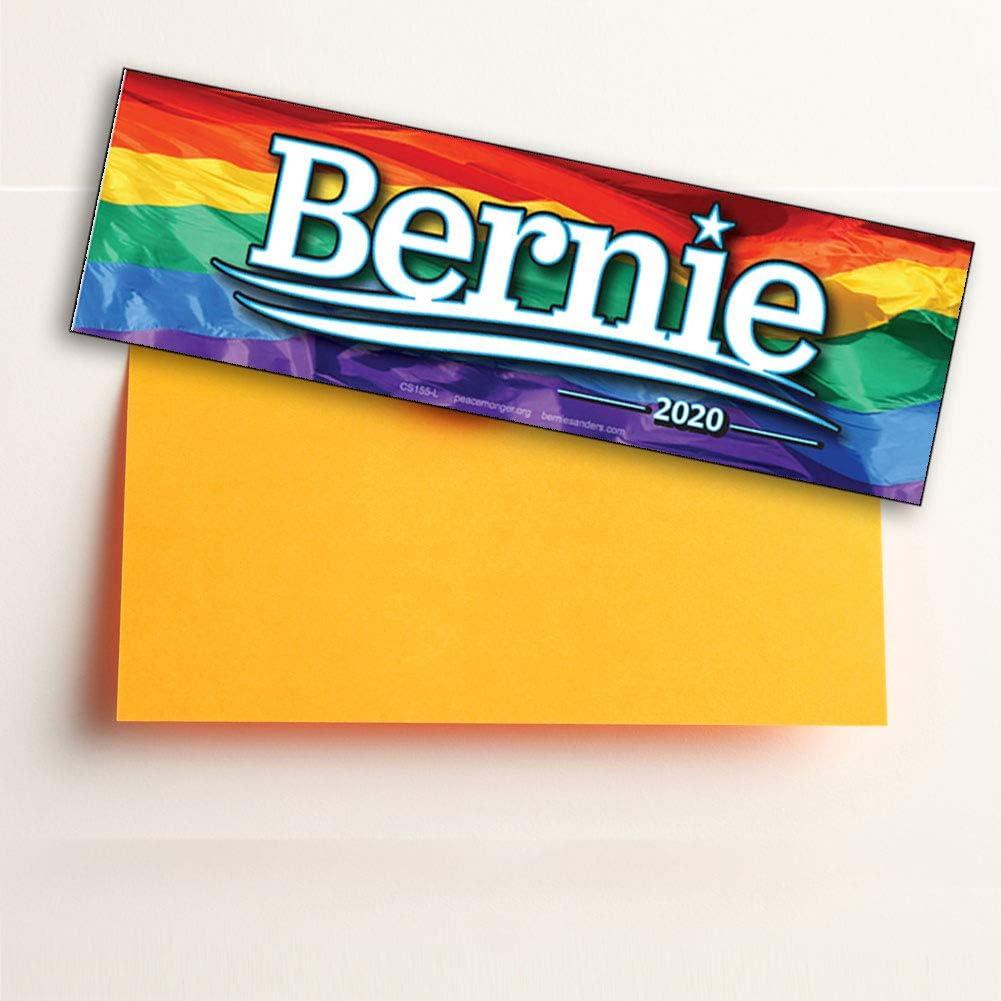 Peacemonger Bernie Sanders for President 2020 Rainbow Bumper Sticker