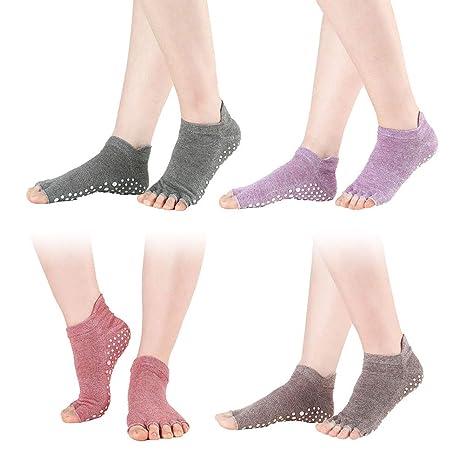 VORCOOL Calcetines de Yoga para Mujer, Calcetines de Baile ...