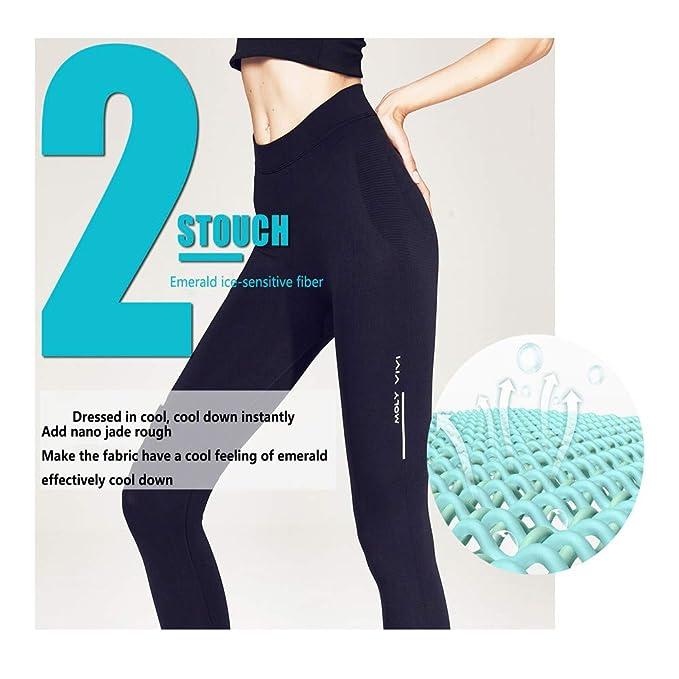 Amazon.com: MolyViVi - Pantalones elásticos para yoga, color ...