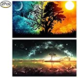 #7: 2 Pack 5D Diamond Painting Full Drill Kit Cross Stitch Painting Diamond Painting Set DIY Rhinestone Embroidery Full Round Drill(45 × 30 CM) for Adults by Standie