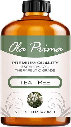 Ola Prima 16oz - Premium Quality Tea Tree Essential Oil (16 Ounce Bottle) Therapeutic Grade Tea Tree Oil
