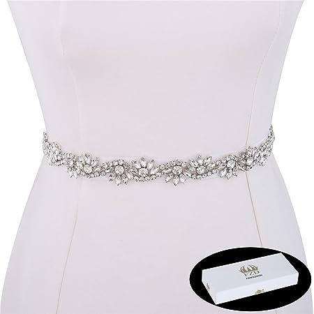 1 Yard Wedding Rhinestone Belt Bridal Bridesmaids Crystal Belts Handmade Rhinestone Applique Rhinestone Trim for Wedding
