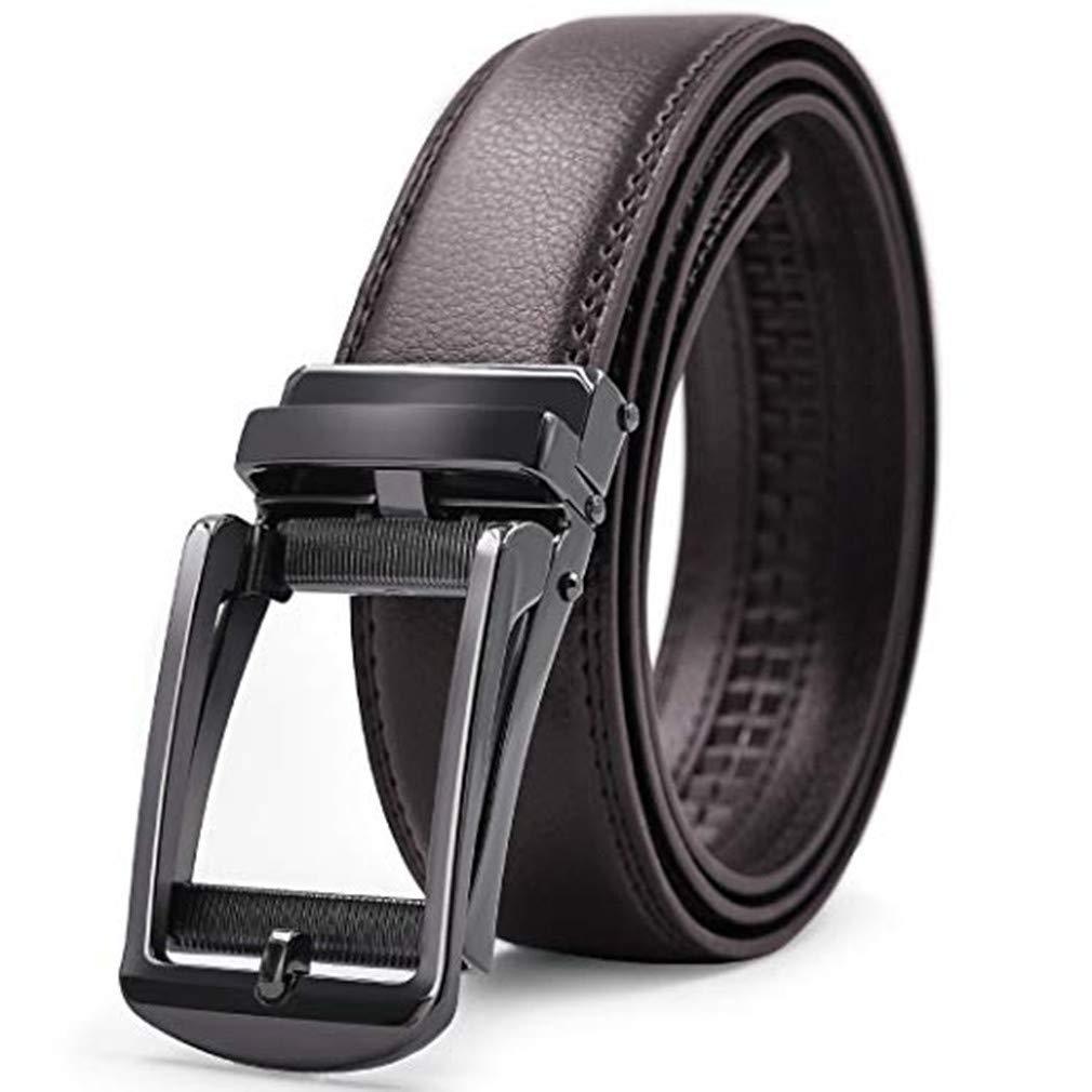 Acexy Cintura da Uomo inghia Maschile in Pelle Vera con Fibbia con Fibbia  in Metallo Cinghia Cuoio Elegante 9586827913c