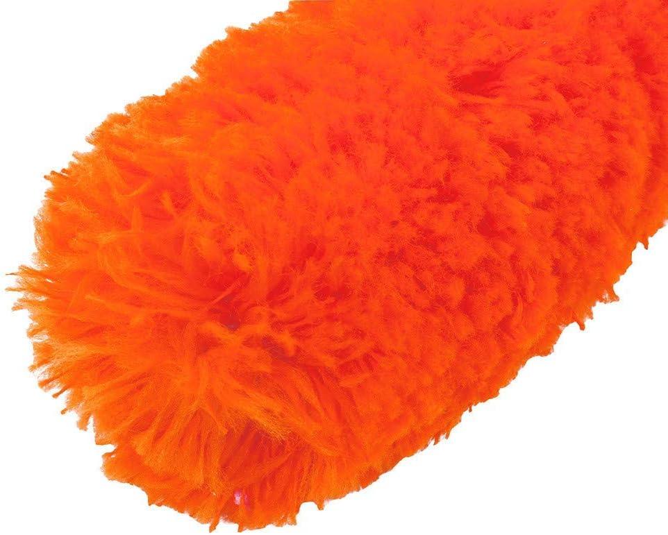 Brosse de nettoyage longue port/ée de poids l/éger Orange Nouveau publi/é Lavable /à la machine Ogquaton Nettoyage t/élescopique de plumeau extensible Home Car Cleaner poign/ée de poussi/ère Brosse Cobweb