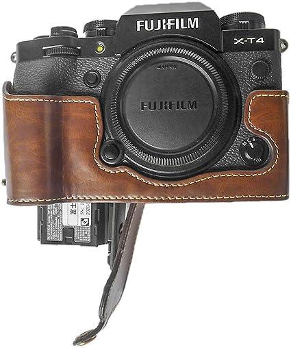 Fuji X T4 Hülle Muziri Kinokoo Pu Leder Hülle Kompatibel Für Fujifilm X T4 Kamera Schutzhülle