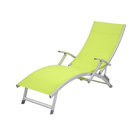 Transat/Chaise Longue 4 posiciones Ibiza - aluminio - verde ...