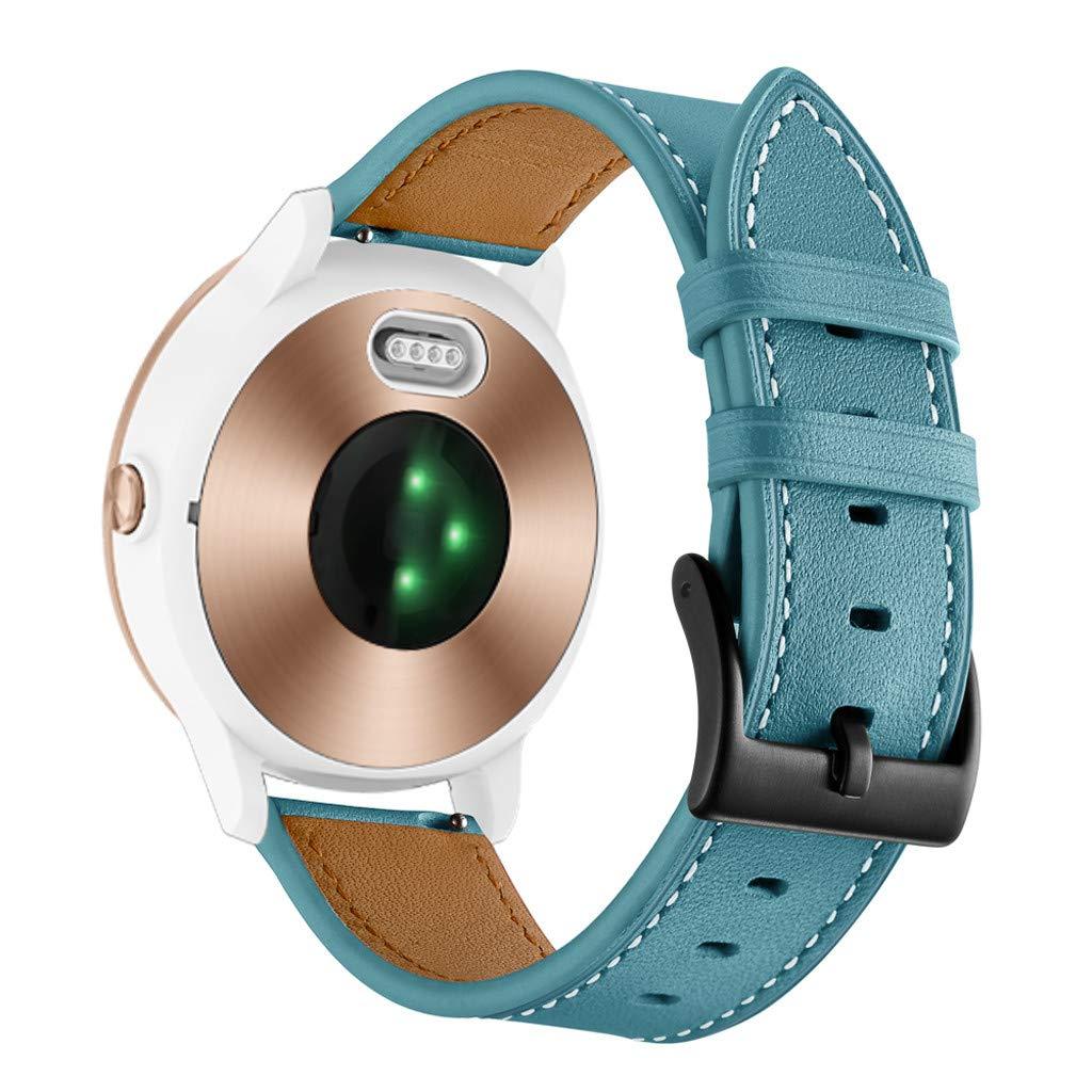 Bracelet de Rechange Confortable avec Boucle r/églable pour Homme et Femme Glowjoy Bracelet de Rechange en Cuir pour Montre Garmin Vivoactive 3