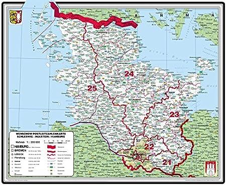 plz karte schleswig holstein Amazon.de: XXL Bundesländerkarte Schleswig Holstein/Hamburg mit