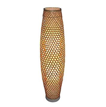 Stehleuchte Stehlampe Farbe : A Schlafzimmer Stehlampe im chinesischen Stil Bambus Wohnzimmer kreative Bambus Kunst Villa Klassische Dekoration Arbeitszimmer Stehlampe Gr/ö/ße: 25 * 100cm
