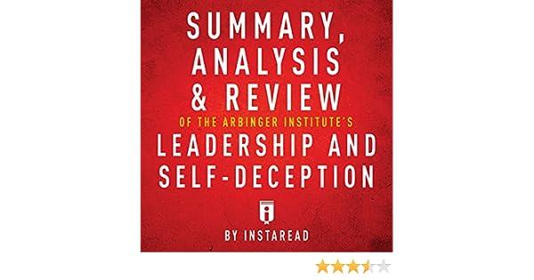 Amazon Summary Analysis Review Of The Arbinger Institutes