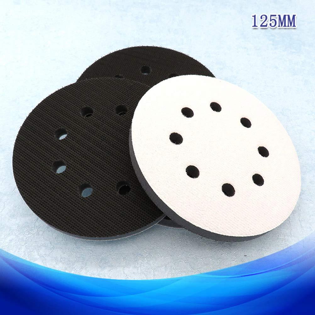 Hemobllo Tampone di spugna tampone 8 fori Gancio e anello di levigatura Cuscino di protezione dellinterfaccia cuscinetti 8 pollici 125 mm