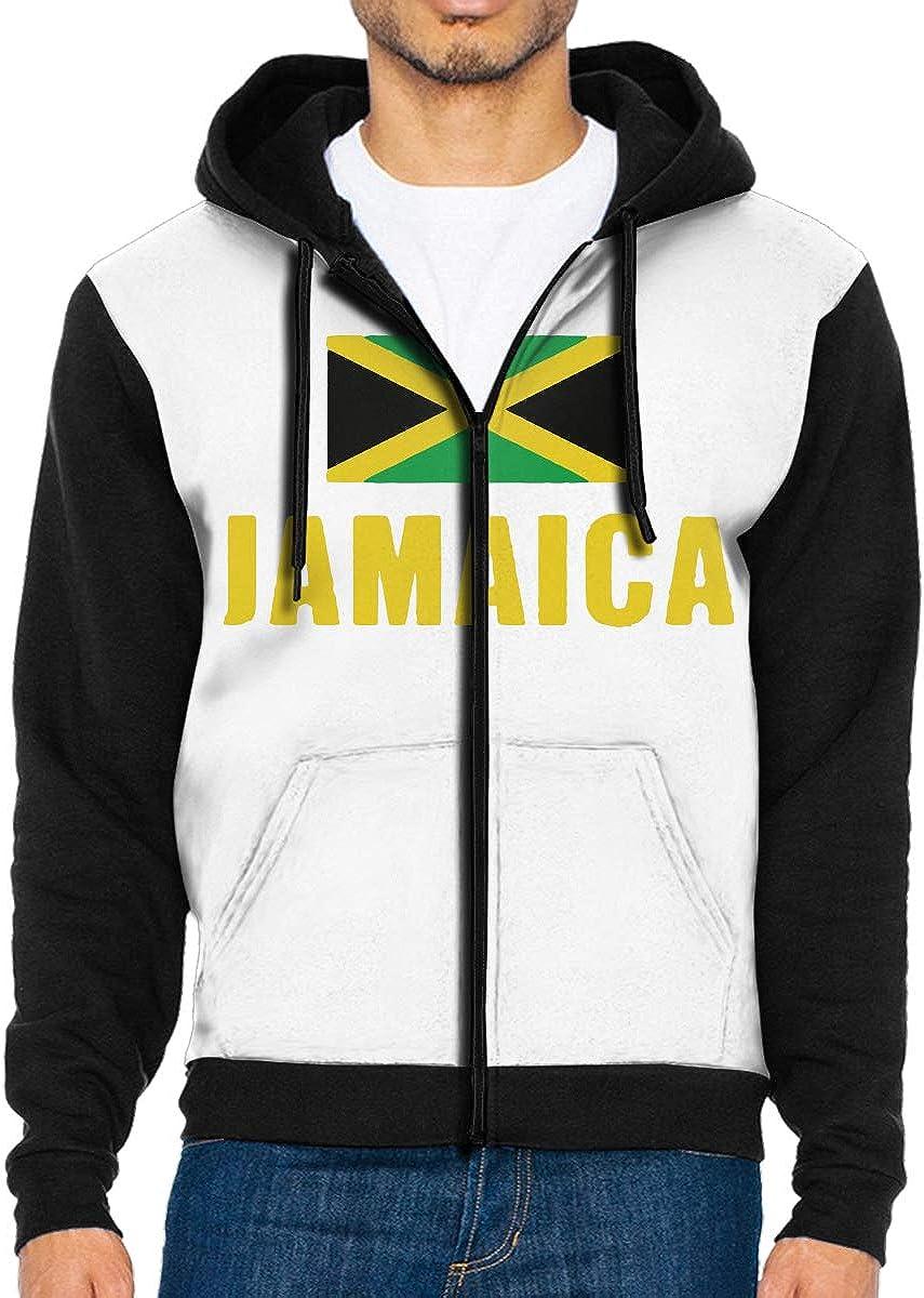 LMKJNGFD USA Brazil Flag Mens Adult Full Zip Graphic Hooded Active Outwear Sweatshirts