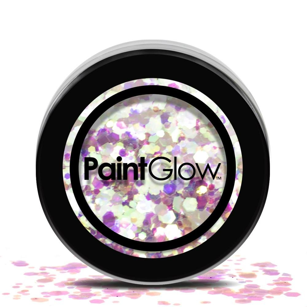 Paint Glow Chunky Glitter Flakes Sparkle Festival Face Hair CHGR06 Unicorn Tears 1