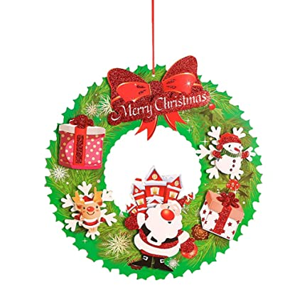Amazon.com Asien 1 PC of Christmas Ornaments Hanging Wreath
