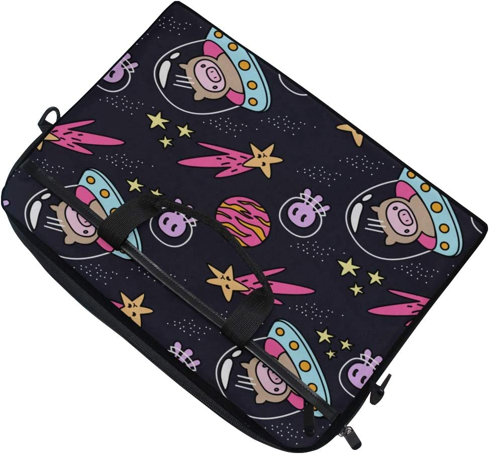 Briefcase Messenger Shoulder Bag for Men Women College Students Business People Office Workers Laptop Bag Cosmic Pattern Doodle Style 15-15.4 Inch Laptop Case