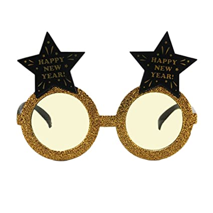 4622b802dee Image Unavailable. Image not available for. Color  Homyl Novelty Glitter  Gold Star Shaped ...