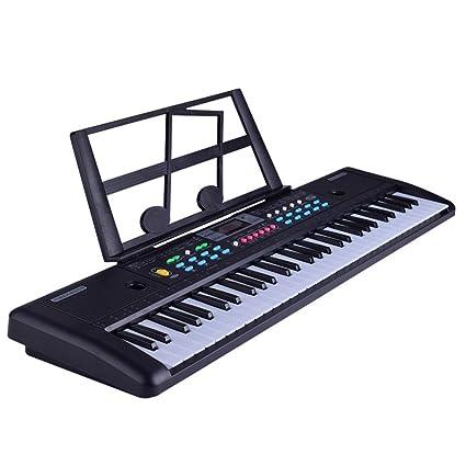 KYOKIM Teclado para Principiante para Niños Teclado para Piano con Teclado DE 61 Teclas con Teclado