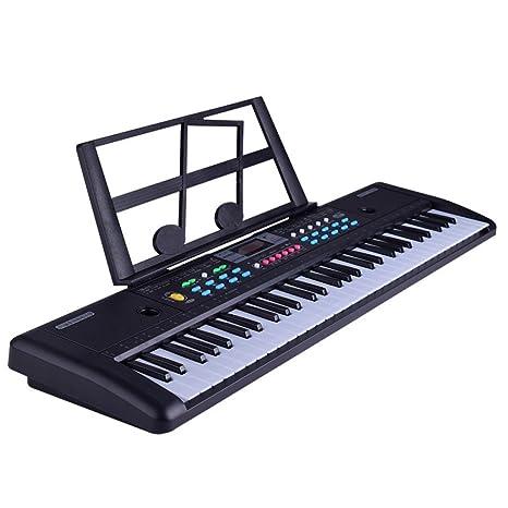 YYWJ Teclado de Piano de música con 61 Teclas para Piano Principiante y Teclado de micrófono