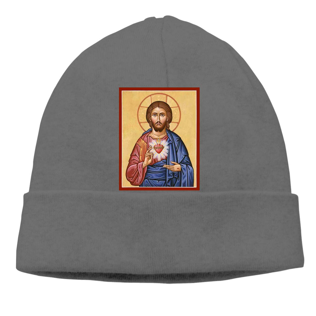 FORDSAN CP Sacred Heart Mens Beanie Cap Skull Cap Winter Warm Knitting Hats.