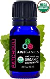 Aweganics Pure Patchouli Oil USDA Organic Essential Oils, 100% Pure Natural Premium Therapeutic Grade, Best Aromatherapy Scented-Oils for Diffuser, Home, Office, Personal Use - 10 ML - MSRP $14.99