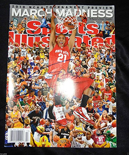 EVAN TURNER SIGNED SPORTS ILLUSTRATED MAGAZINE OHIO STATE BUCKEYES 76ERS COA J1