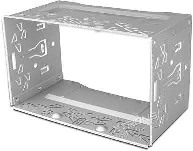 Estructura XTRONS Universal para doble reproductor de DVD de coche 2 Din Radio estéreo unidad central: Amazon.es: Electrónica