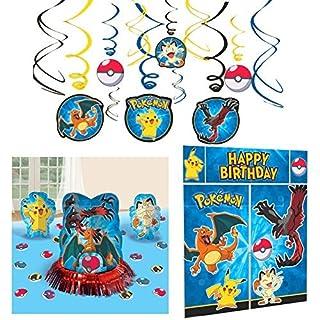 Pokemon Party Decorations Bundle - Table Decorating Kit, Scene Setter, and Hanging Swirls (B01J8AP5ZW)   Amazon price tracker / tracking, Amazon price history charts, Amazon price watches, Amazon price drop alerts