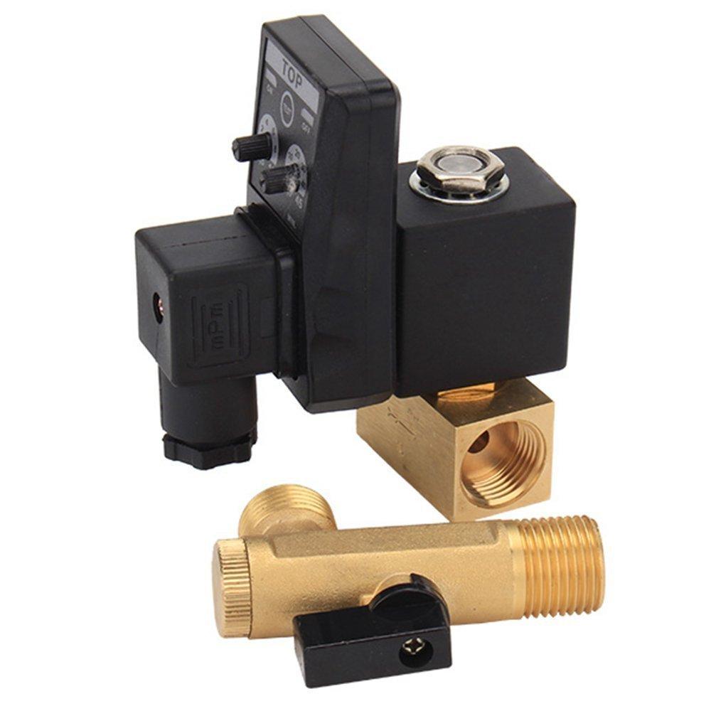 220/ V AC 2-Wege 1//2/ Zoll Elektronischer Einstellbare Kompressor-Ablaufventil SHENGZW
