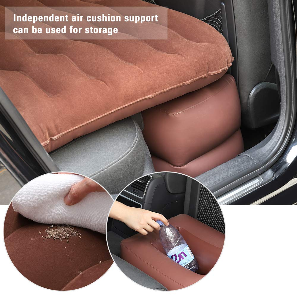 Car and MPV Two Pillows for Sleep Travel and Camping for Universal SUV Rest NEX Car Inflatable Mattress Car Air Bed Backseat Extended Couch with Motor Pump