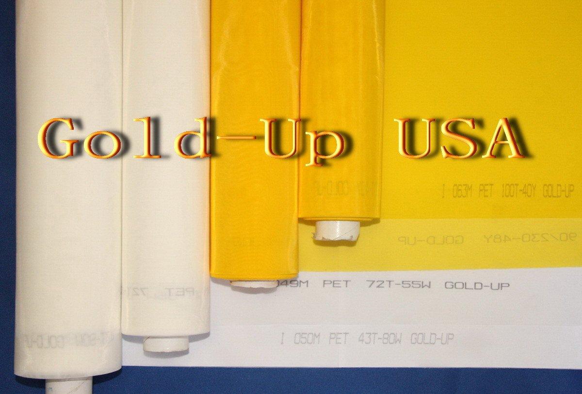 3 yards - 305 Yellow Mesh x 63'' Width Silk Screen printing Mesh by GoldUpUSAInc