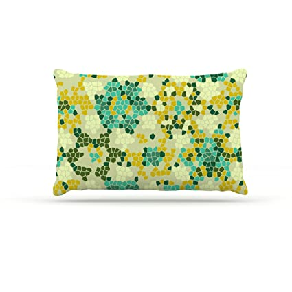 Kess InHouse Laura Nicholson Flower Garden Mosaic - Cama de Forro Polar para Perro, 127