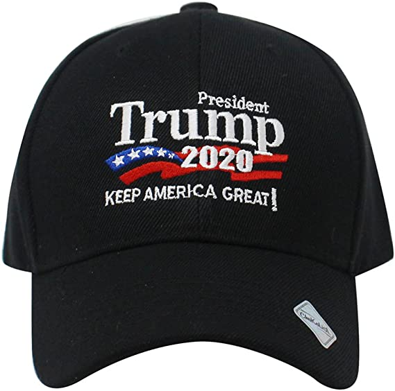 Trump 2020 Keep America Great Campaign Embroidered US Hat Baseball Ball Cap Hook and Loop Back Closure