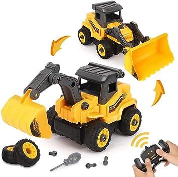 BeebeeRun 2 in 1 Montage Spielzeug RC Auto LKW Spielzeug