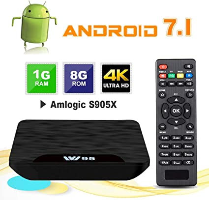 TV Box Android 7.1 - VIDEN W1 Smart TV Box Amlogic Quad Core, 1GB RAM & 8GB ROM, 4K*2K UHD H.265, HDMI, USB*2, WiFi Media Player, Android Set-Top Box: Amazon.es: Electrónica