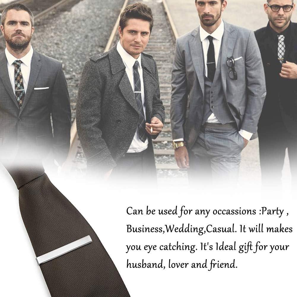 WENTS 3PCS Pasador de Corbatas,Pisacorbatas, Tie Bar Clip,Pisacorbata Corbata Clip Pasadores de Corbata Corbata de Seda Tie Bar Hombre, Plata: Amazon.es: Joyería