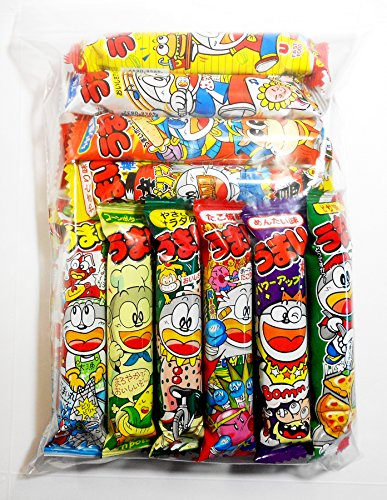 (Umaibo Japanese Corn Puffed Snacks Variety Pack 10 Flavors (20 packages))