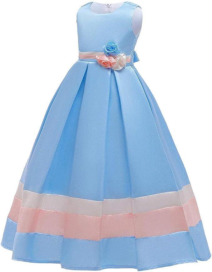 GGCC Vestido de Alta Costura para niñas Vestido de Novia con ...