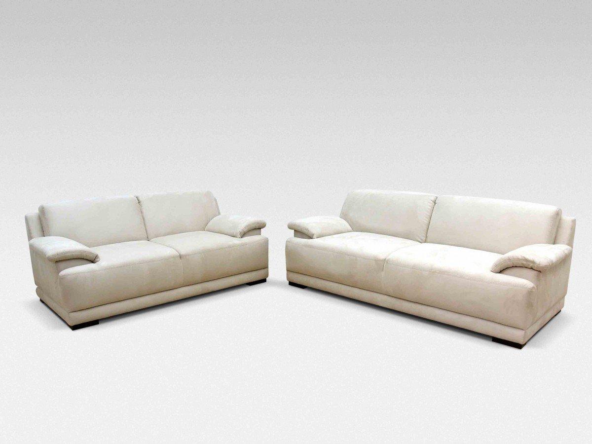 Dreams4Home Polstergarnitur 'Flower', beige, Boxspring, Boxspringpolsterung, 2 Sitzer, 3 Sitzer, Polyester,Polstermöbel, Wohnzimmer, Sitzmöbel, Couch