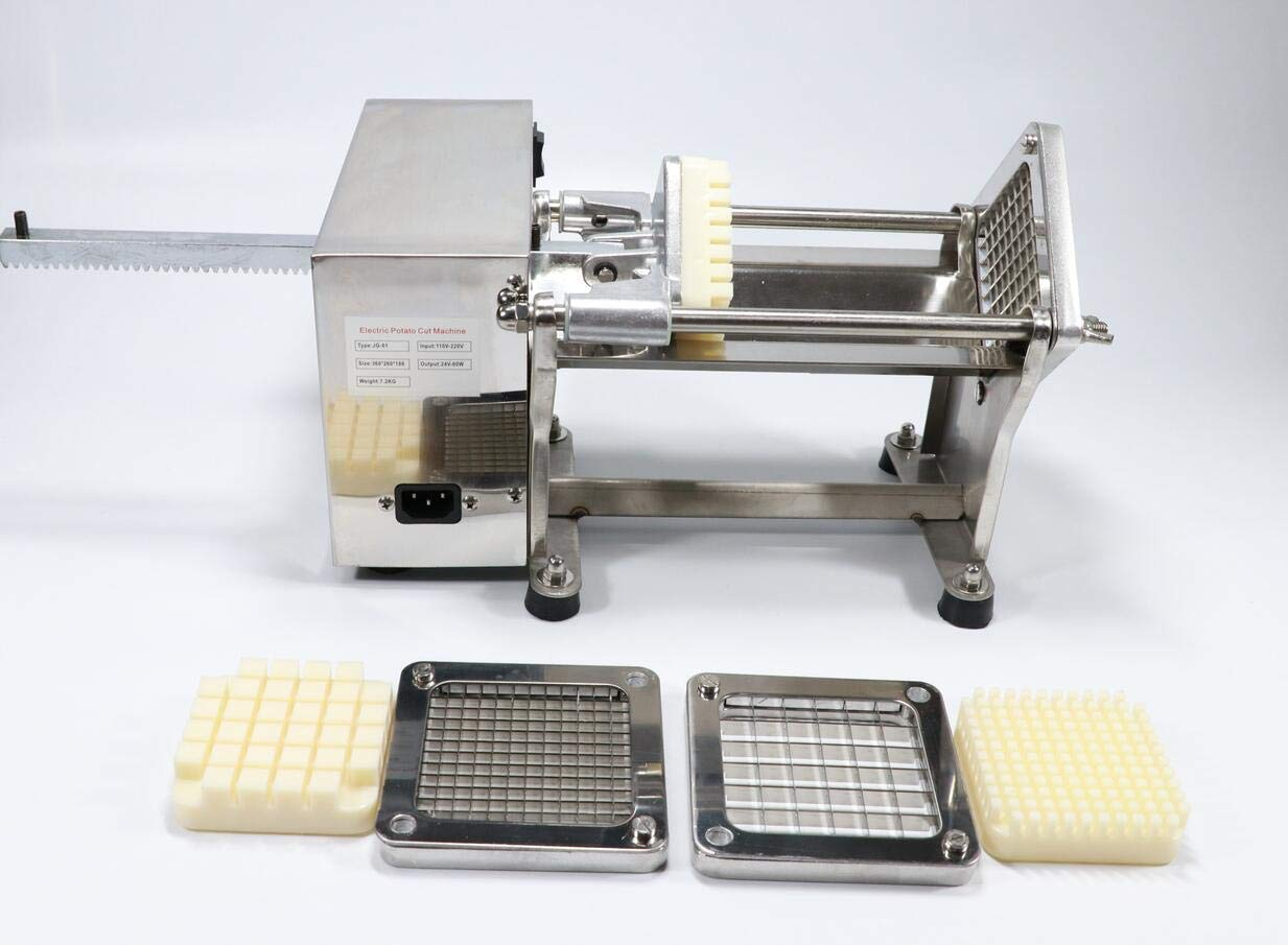 Three Moulds Replacement Blade Frames Stainless Steel Restaurant Commercial Potato Vegetable Fruit Dicer Onion Tomato Slicer Chopper Peppers,Potatoes,Mushrooms Professional Quick Slicer by Zinnor