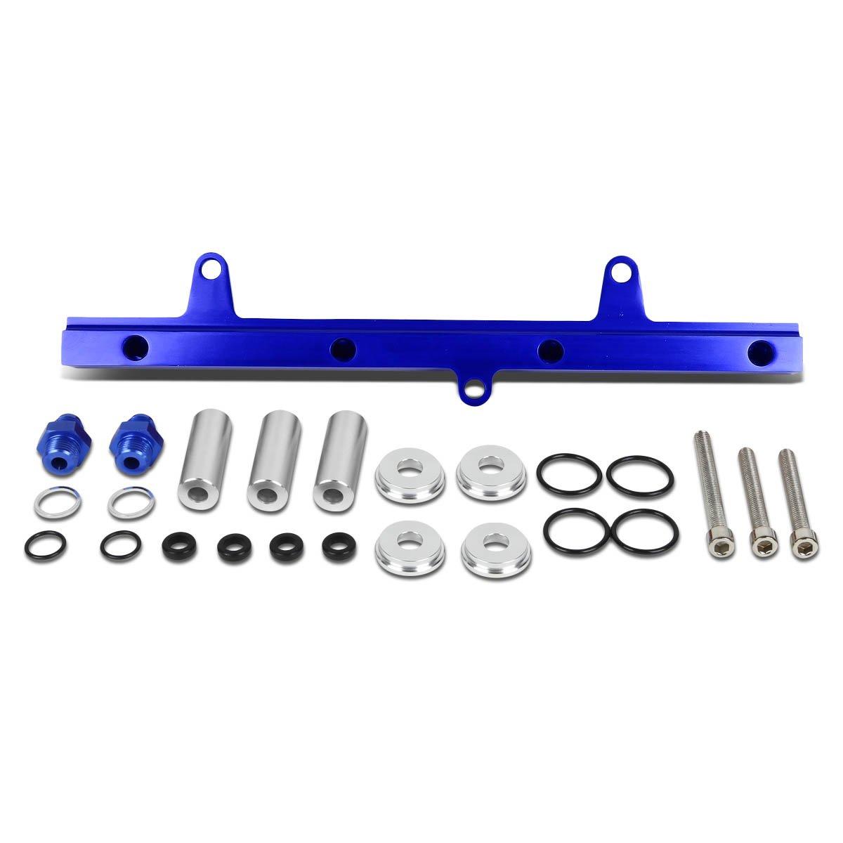 for 89-94 Nissan 240SX Silvia S13 DNA MOTORING FRK-SR20DET-BL High Flow Fuel Injector Rail Kit
