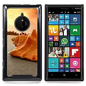 SKCASE Center / Funda Carcasa protectora - Seashell Arena;;;;;;;; - Nokia Lumia 830