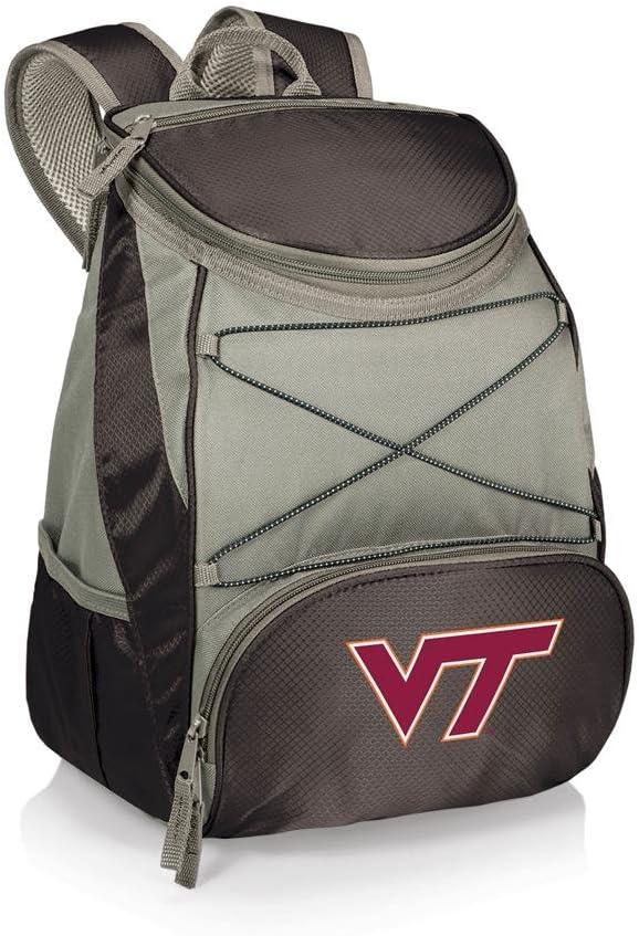 Black NCAA Virginia Tech Hokies PTX Insulated Backpack Cooler