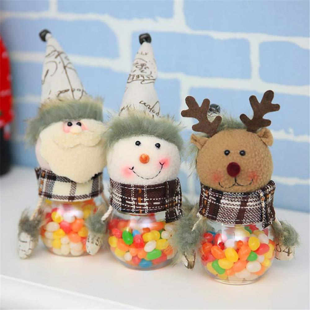Caja de almacenamiento de dulces de Navidad, pequeña, tarro, botella, Papá Noel, decoración de Navidad Size3: Amazon.es: Hogar